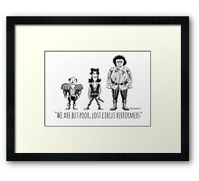Poor, Lost Circus Performers Framed Print
