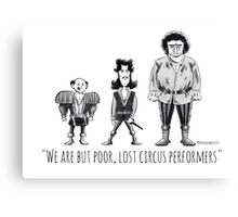 Poor, Lost Circus Performers Canvas Print