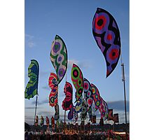 Glastonbury Flags Photographic Print