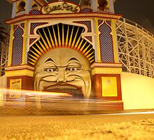 Luna Park at night by melbourne