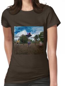 3  Kids on a Swing Womens Fitted T-Shirt