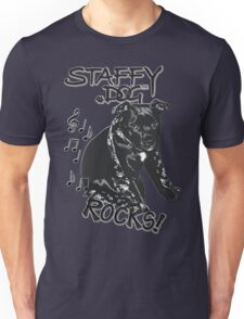 Staffy Dog Rocks! Unisex T-Shirt