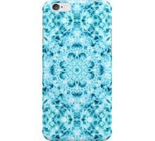 """Spirit of India: Snow-Fleur"" in turquoise and cyan iPhone Case/Skin"