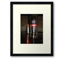 Candlelit Beer Framed Print