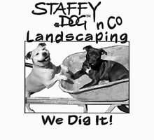 Staffy Dog n Co Landscaping. Unisex T-Shirt