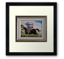 Turkish Mounted Archer Framed Print