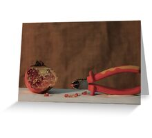 Pomegranate Punishment  Greeting Card