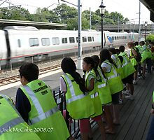 Watching the High Speed Acela Express by Jack McCabe