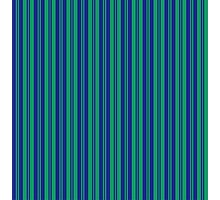 parallel lines abstract pattern green blue stripes Photographic Print