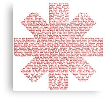 Red Hot Chili Peppers Songs Metal Print