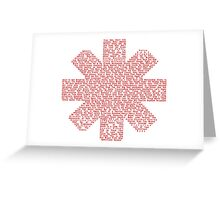 Red Hot Chili Peppers Songs Greeting Card
