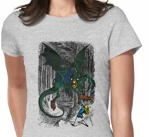 Alice Fights the Jabberwocky Womens Fitted T-Shirt