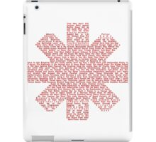 Red Hot Chili Peppers Songs iPad Case/Skin