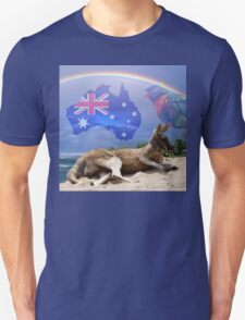 Kangaroo and Lorikeet Unisex T-Shirt