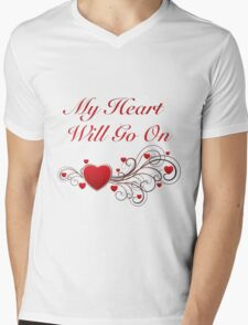 Titanic! My heart will go on! SALE! Mens V-Neck T-Shirt