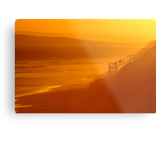 End of Day 13th Beach Metal Print