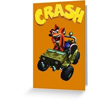 Crash Bandicoot - Jeep  Greeting Card