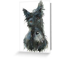 Barney The Scottie Dog Greeting Card