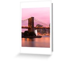 Early Evening in New York Greeting Card