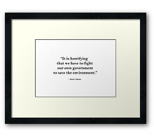 Ansel Adams Quote 1 Framed Print