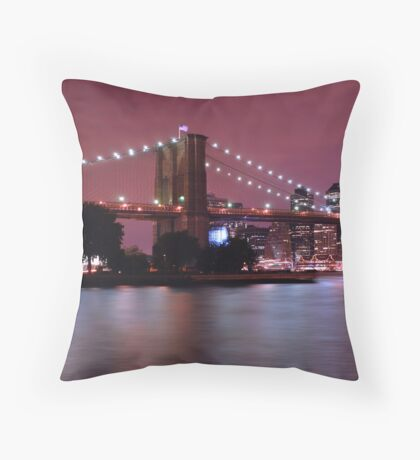 Night filled New York Throw Pillow