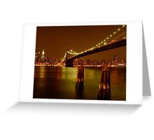 Pilings In East River New York Greeting Card