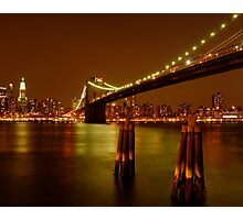 Pilings In East River New York Photographic Print