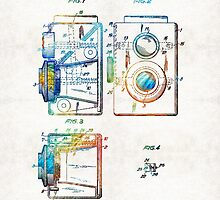 Vintage Camera Art - Twin Lens - By Sharon Cummings  by Sharon Cummings