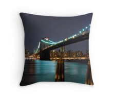 East River New York City Throw Pillow