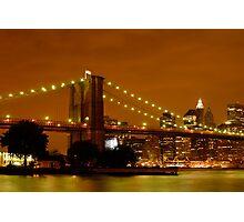 Fiery New York City Photographic Print