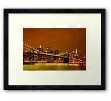 Fiery Sky over New York City Framed Print