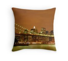Sunset over New York City Throw Pillow