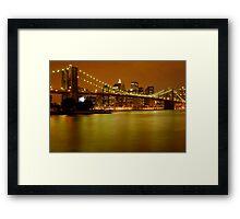 New York City Skyline at Dusk Framed Print