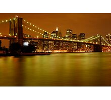 New York City Skyline at Dusk Photographic Print