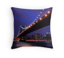 Blue Sky New York Throw Pillow
