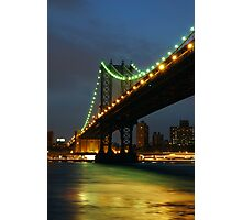 Subtle Night Sky Over New York Photographic Print