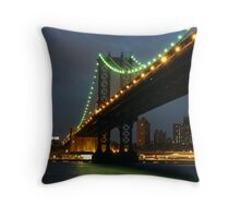 Subtle Night Sky Over New York Throw Pillow