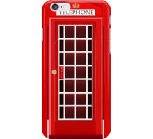 Old Phone Booth- English style iPhone Case/Skin