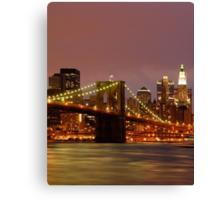 Evening Sky New York Canvas Print