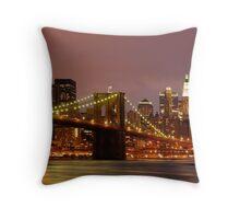 Evening Sky New York Throw Pillow