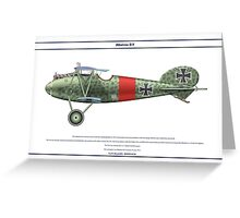 Albatros D.V Jasta 15 - 1 Greeting Card