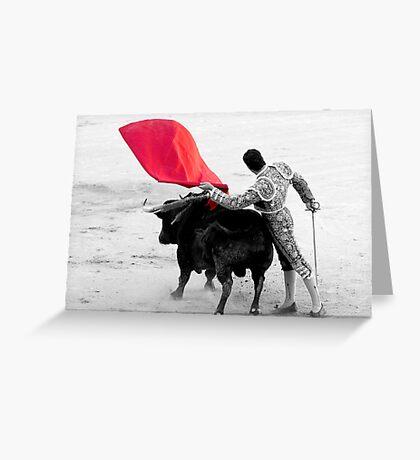 Matador and Bull. 2 Greeting Card