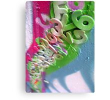 letters & numbers Canvas Print