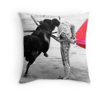 Matador and Bull. 4 Throw Pillow