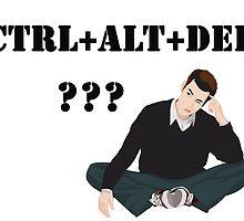 Computer! Ctrl+Alt+Del! Humor! by Vitalia