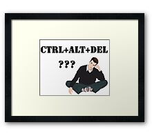Computer! Ctrl+Alt+Del! Humor! Framed Print