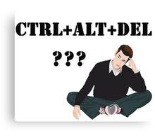 Computer! Ctrl+Alt+Del! Humor! Canvas Print