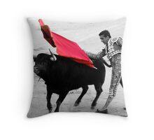 Matador and Bull. 5 Throw Pillow