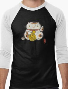 ManekiNeko [Special Lucky Toy Box] Men's Baseball ¾ T-Shirt