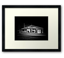 Roadside Antiques Shop in Torrance Ontario Framed Print